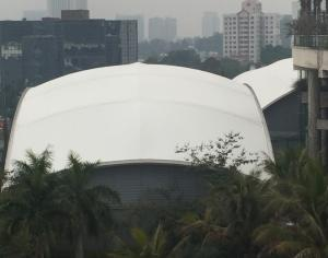 the roofing for tennis court