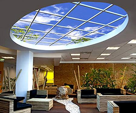 Safety and health membrane ceiling