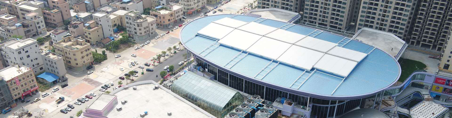 Stadium Shopping Mall Retractable Roof Structure